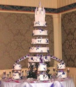 Castle Wedding Cake Topper