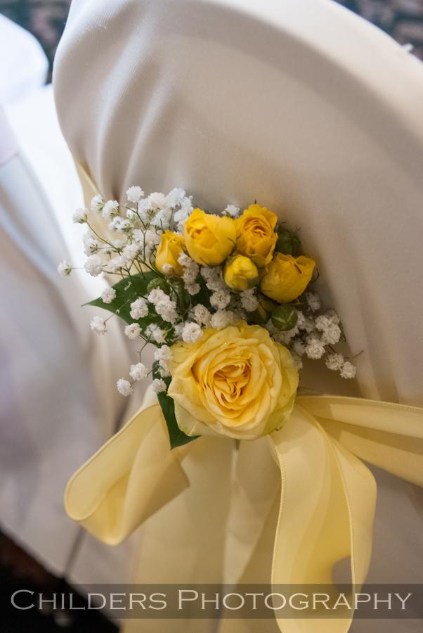 yellow wedding ceremony decor