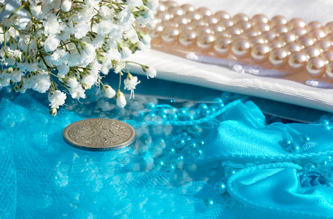Lucky Sixpence in the Bride's Shoe