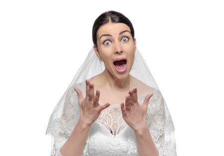 stress, worried, upset, angry bride