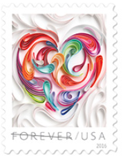 wedding love postage stamp